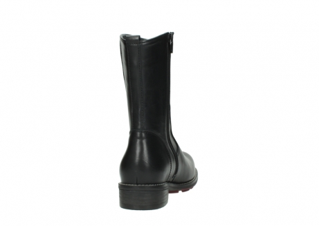 wolky mid calf boots 04442 russell cw 20000 black leather cold winter warm lining_8