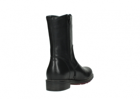 wolky mid calf boots 04442 russell cw 20000 black leather cold winter warm lining_9