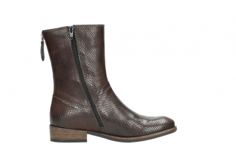 wolky mid calf boots 04511 yunnan 30430 cognac snake print leather_13