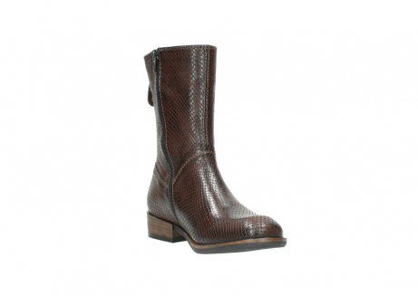 wolky mid calf boots 04511 yunnan 30430 cognac snake print leather_17
