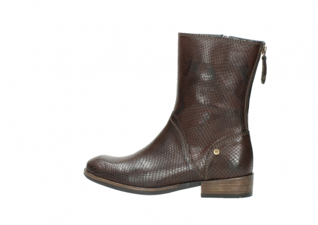 wolky mid calf boots 04511 yunnan 30430 cognac snake print leather_2