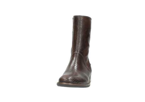 wolky mid calf boots 04511 yunnan 30430 cognac snake print leather_20