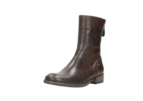 wolky mid calf boots 04511 yunnan 30430 cognac snake print leather_22