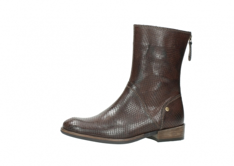 wolky mid calf boots 04511 yunnan 30430 cognac snake print leather_24