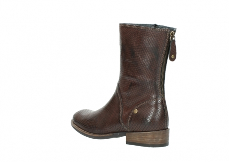 wolky mid calf boots 04511 yunnan 30430 cognac snake print leather_4