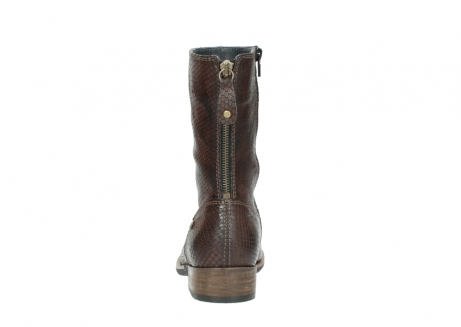 wolky mid calf boots 04511 yunnan 30430 cognac snake print leather_7
