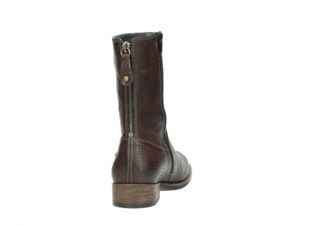 wolky halbhohe stiefel 04511 yunnan 30430 cognac snakeprint leder_8