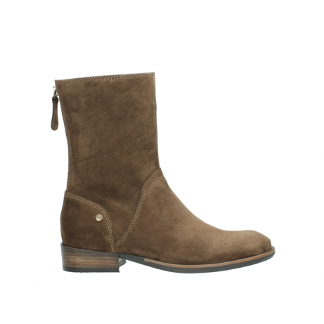wolky mid calf boots 04511 yunnan 40310 mid brown oiled suede