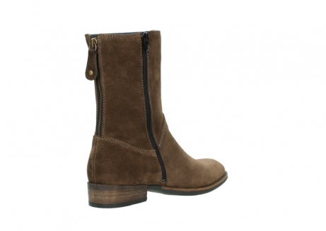wolky mid calf boots 04511 yunnan 40310 mid brown oiled suede_10