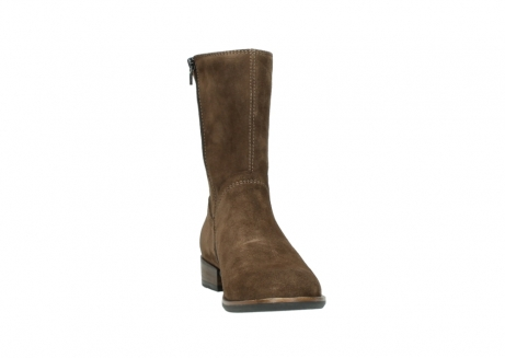 wolky mid calf boots 04511 yunnan 40310 mid brown oiled suede_18