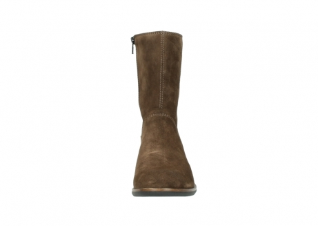 wolky mid calf boots 04511 yunnan 40310 mid brown oiled suede_19