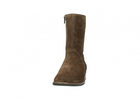 wolky mid calf boots 04511 yunnan 40310 mid brown oiled suede_20