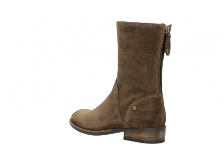 wolky mid calf boots 04511 yunnan 40310 mid brown oiled suede_4