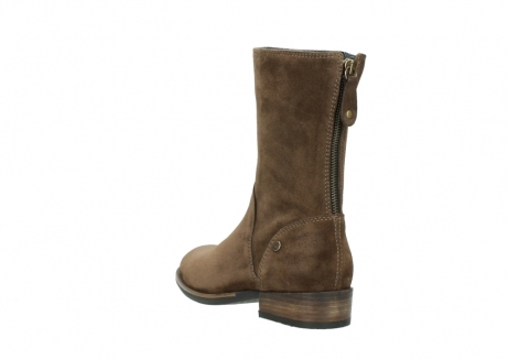 wolky mid calf boots 04511 yunnan 40310 mid brown oiled suede_5