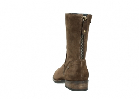 wolky mid calf boots 04511 yunnan 40310 mid brown oiled suede_6