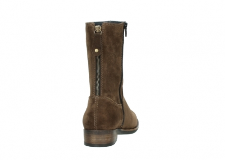 wolky mid calf boots 04511 yunnan 40310 mid brown oiled suede_8