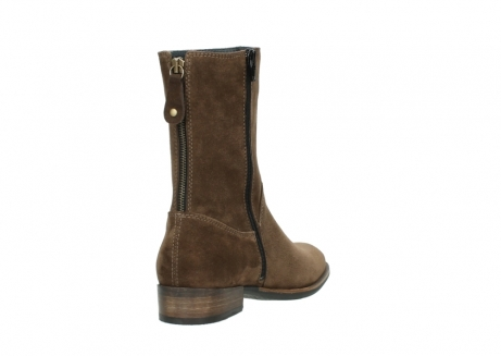 wolky mid calf boots 04511 yunnan 40310 mid brown oiled suede_9