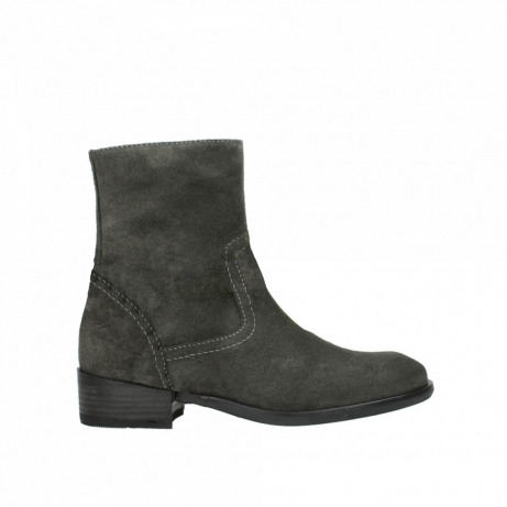 wolky mid calf boots 04514 assam 40210 anthracite oiled suede