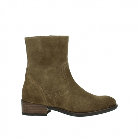 wolky mid calf boots 04514 assam 40310 mid brown oiled suede