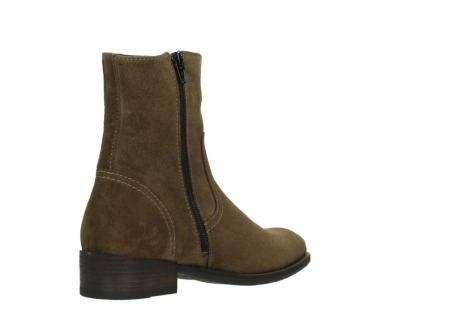 wolky mid calf boots 04514 assam 40310 mid brown oiled suede_10