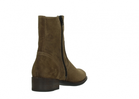 wolky mid calf boots 04514 assam 40310 mid brown oiled suede_9