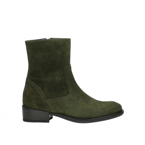 wolky mid calf boots 04514 assam 40730 forest green oiled suede