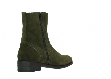 wolky mid calf boots 04514 assam 40730 forest green oiled suede_10