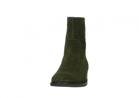 wolky mid calf boots 04514 assam 40730 forest green oiled suede_20