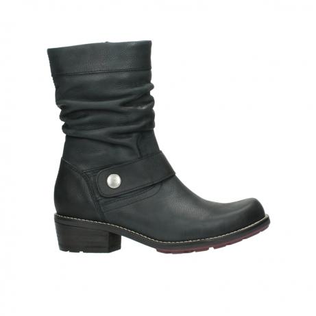 wolky halfhoge laarzen 0526 desna 100 zwart geolied nubuck