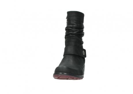 wolky halfhoge laarzen 0526 desna 100 zwart geolied nubuck_20