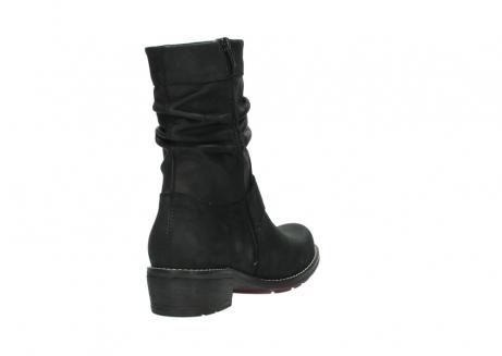 wolky halfhoge laarzen 0526 desna 100 zwart geolied nubuck_9