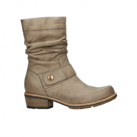 wolky halbhohe stiefel 0526 desna 115 taupe geoltes veloursleder