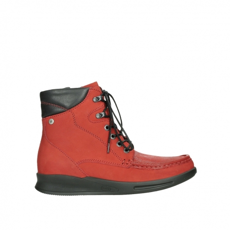 wolky mid calf boots 05904 four 10505 darkred stretch nubuck