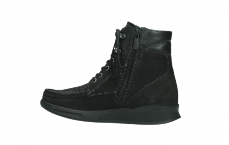 wolky mid calf boots 05904 four 10000 black stretch nubuckleather_14