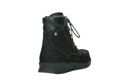 wolky mid calf boots 05904 four 10000 black stretch nubuckleather_21