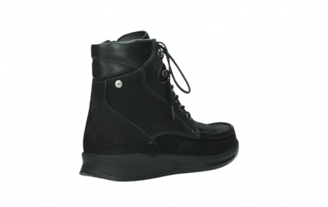 wolky mid calf boots 05904 four 10000 black stretch nubuckleather_22