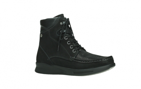 wolky mid calf boots 05904 four 10000 black stretch nubuckleather_3
