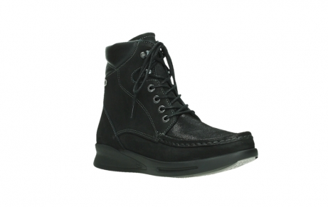 wolky mid calf boots 05904 four 10000 black stretch nubuckleather_4
