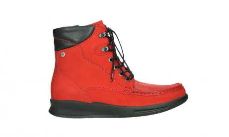 wolky mid calf boots 05904 four 10505 darkred stretch nubuck_1