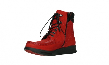 wolky mid calf boots 05904 four 10505 darkred stretch nubuck_10