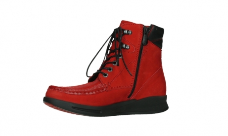 wolky mid calf boots 05904 four 10505 darkred stretch nubuck_11