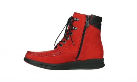 wolky mid calf boots 05904 four 10505 darkred stretch nubuck_12