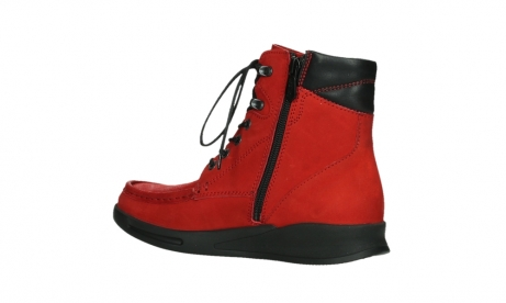 wolky mid calf boots 05904 four 10505 darkred stretch nubuck_15