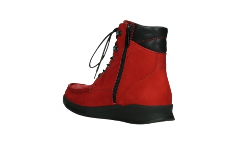 wolky mid calf boots 05904 four 10505 darkred stretch nubuck_16