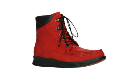 wolky mid calf boots 05904 four 10505 darkred stretch nubuck_3