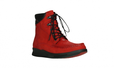wolky mid calf boots 05904 four 10505 darkred stretch nubuck_4