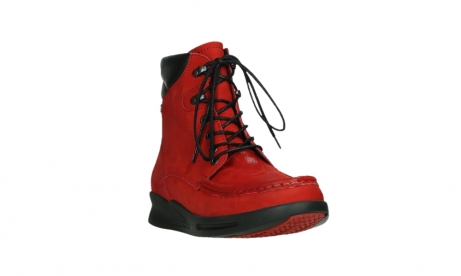 wolky mid calf boots 05904 four 10505 darkred stretch nubuck_5
