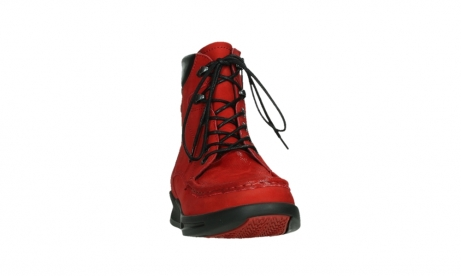 wolky mid calf boots 05904 four 10505 darkred stretch nubuck_6