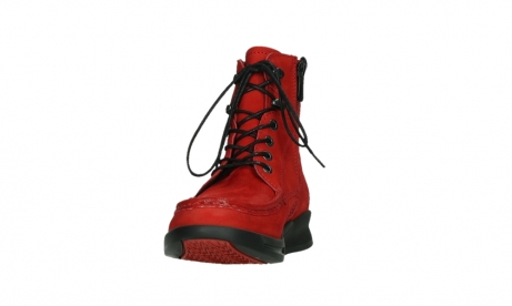 wolky mid calf boots 05904 four 10505 darkred stretch nubuck_8