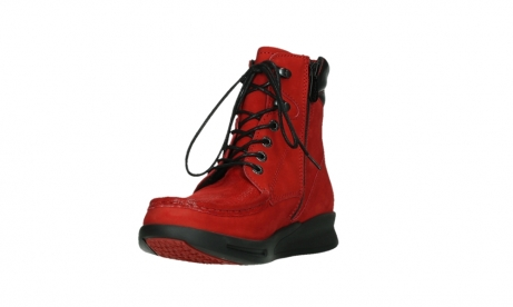 wolky mid calf boots 05904 four 10505 darkred stretch nubuck_9